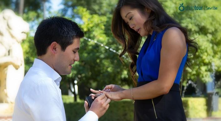 propuesta de matrimonio en sevilla - marriage proposal en sevilla