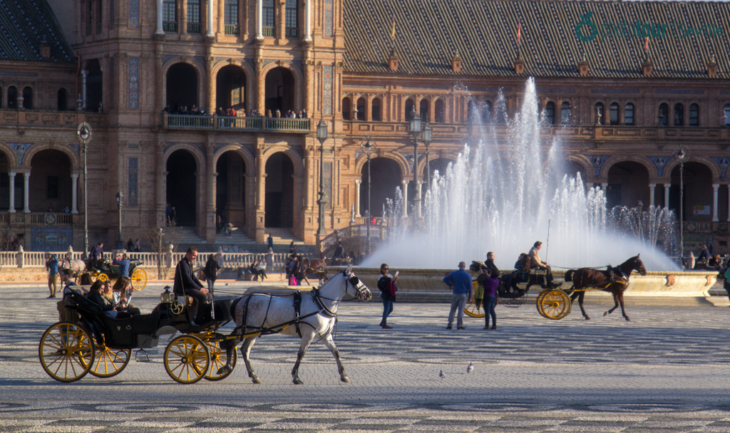 Horse Carriages at Plaza España