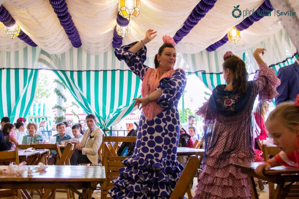 Dancing Sevillanas at Seville April Fair