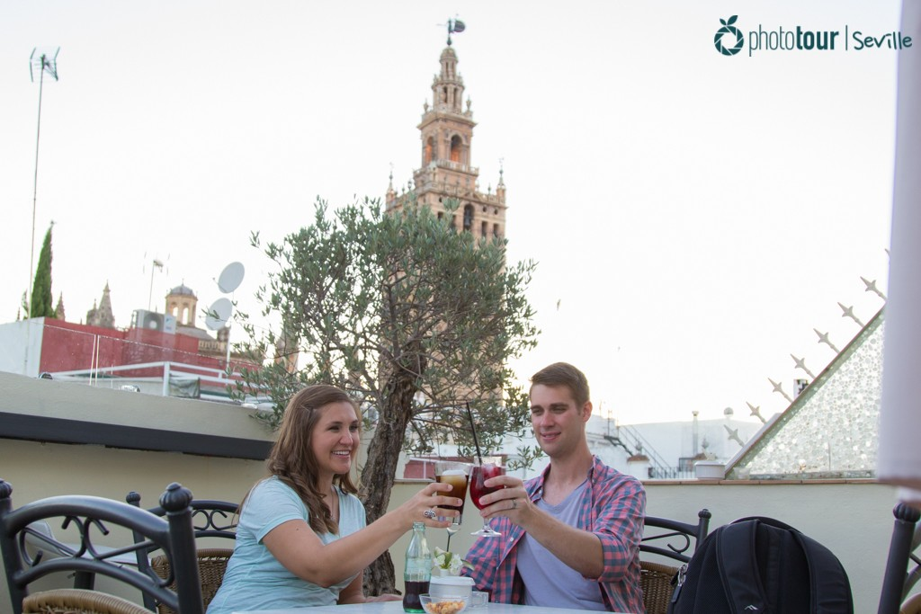 Palacio Alcazar rooftop in Seville
