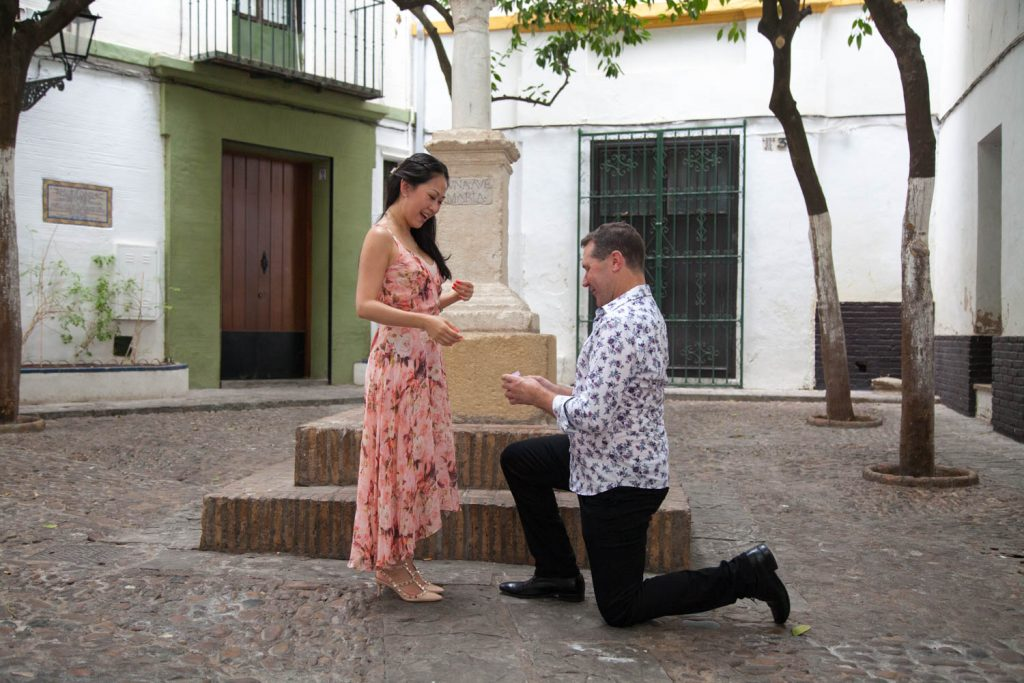 Marriage proposal in Seville